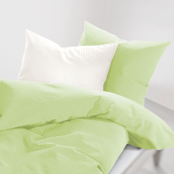 schlafgut® Soft-Seersucker limone