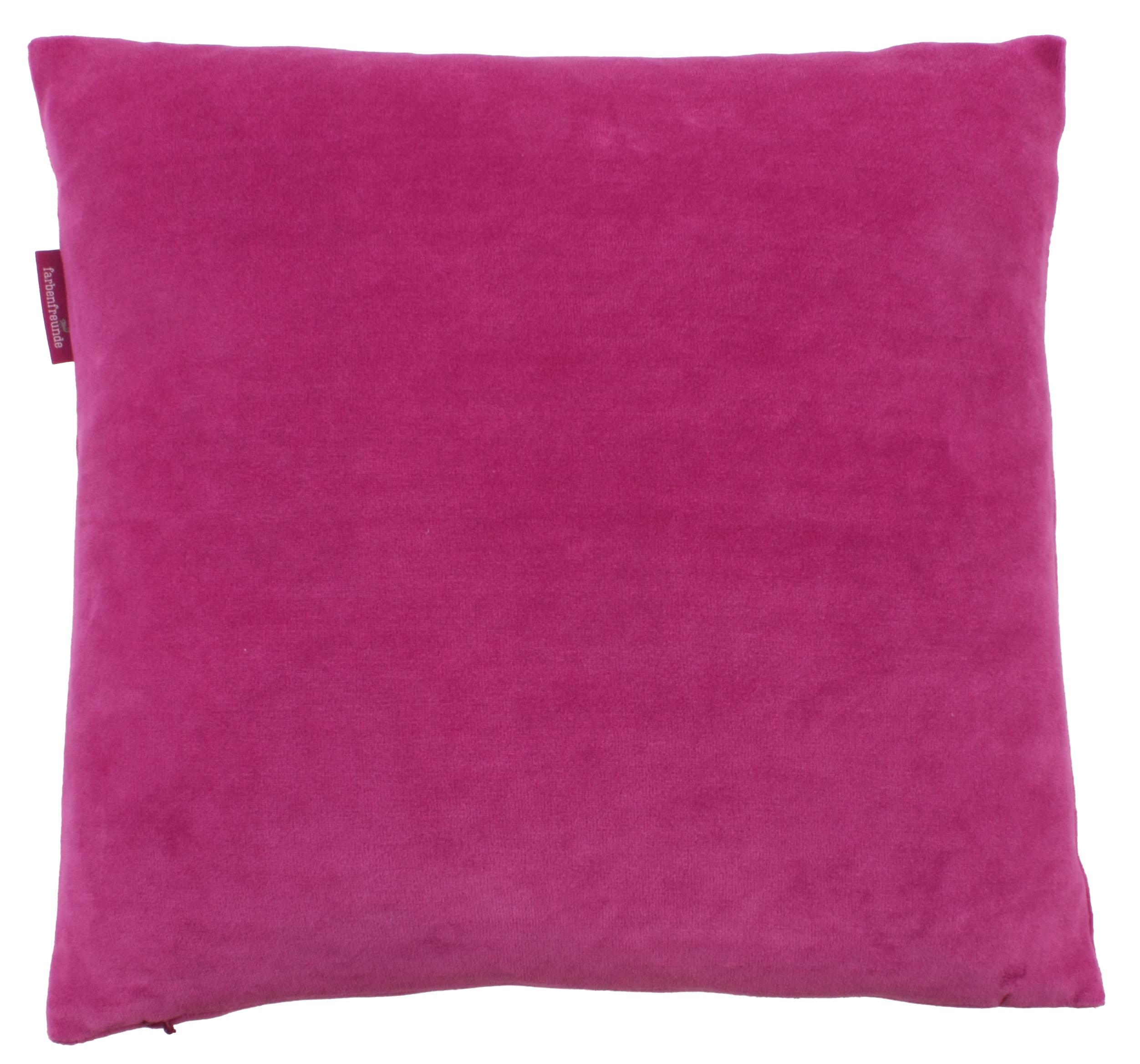 kissenh lle farbenfreunde 40x40 cm fuchsia der bettenhaus online shop. Black Bedroom Furniture Sets. Home Design Ideas