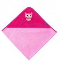 Kapuzentuch EULEN rosa/pink
