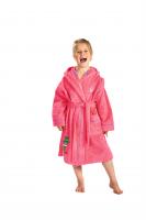 Kinderbademantel FROSCH pink