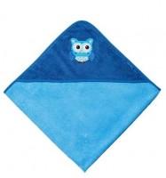 Kapuzentuch EULEN blau