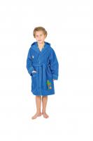 Kinderbademantel FROSCH blau