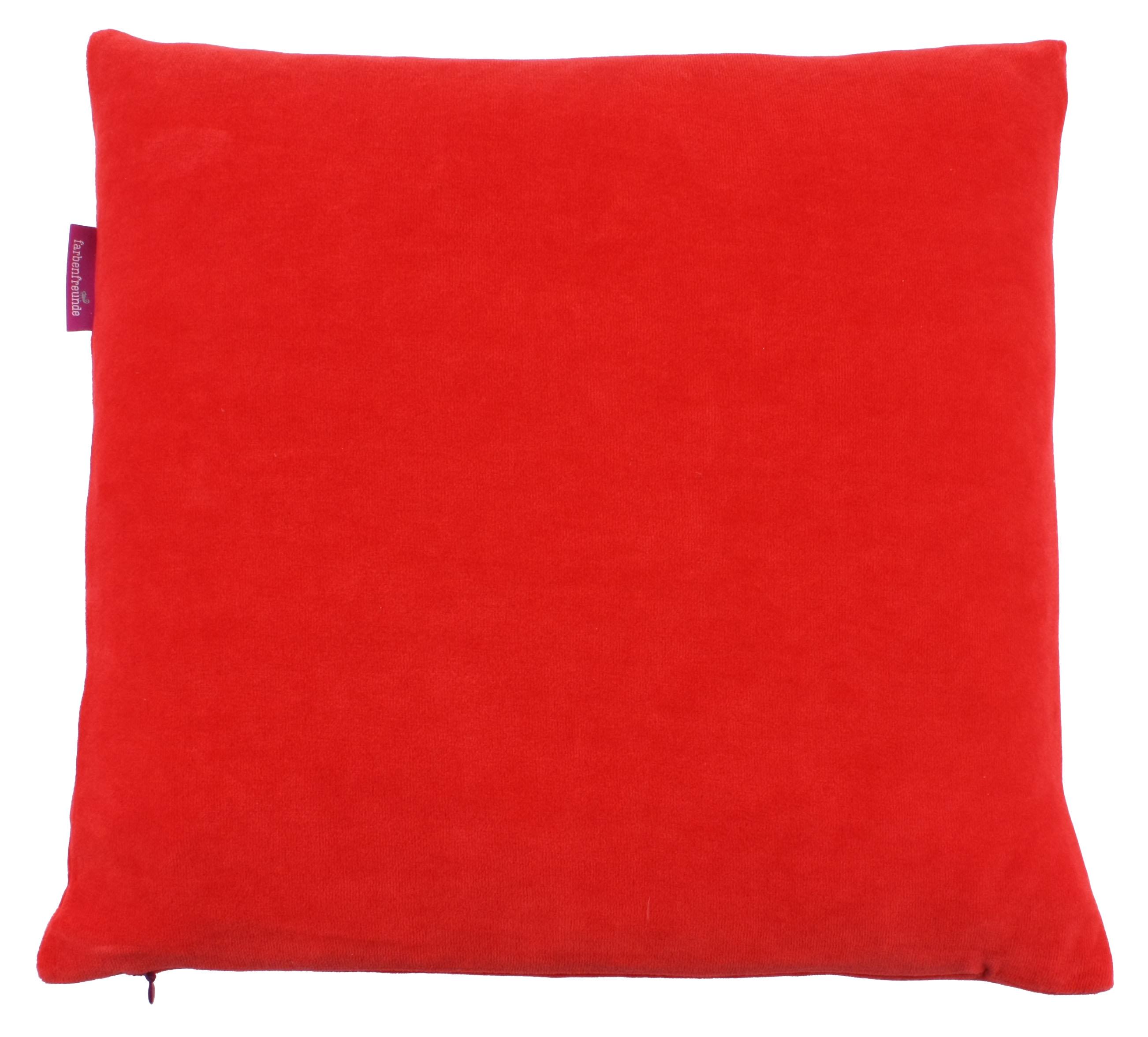 kissenh lle farbenfreunde 40x40 cm blutorange der bettenhaus online shop. Black Bedroom Furniture Sets. Home Design Ideas